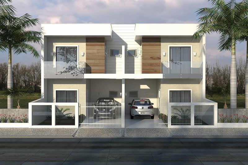 Planta de sobrado geminado moderno projetos de casas for Casa moderna 90m2