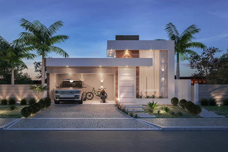 Planta de casa com cozinha integrada projetos de casas for Modelos de casas minimalistas de una planta