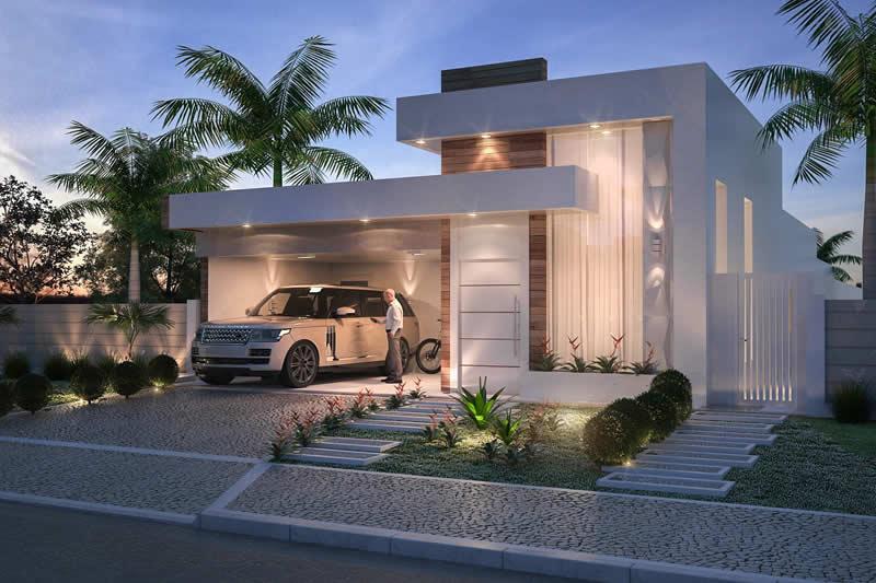 Planta de casa com cozinha integrada projetos de casas for Fotos de piscinas modernas en puerto rico