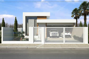 Casa com platibanda
