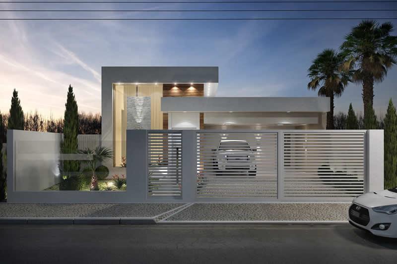 Modelo de casa com garagem