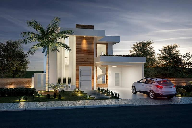 Modelo de casa sobrado