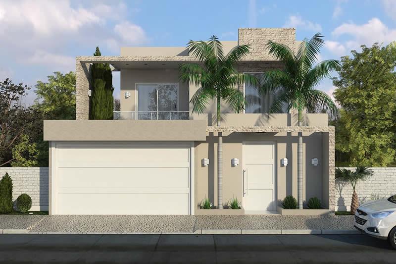 Planta de sobrado com 4 quartos projetos de casas for Casa moderna 6 00 m x 9 00 m 2 pisos interior