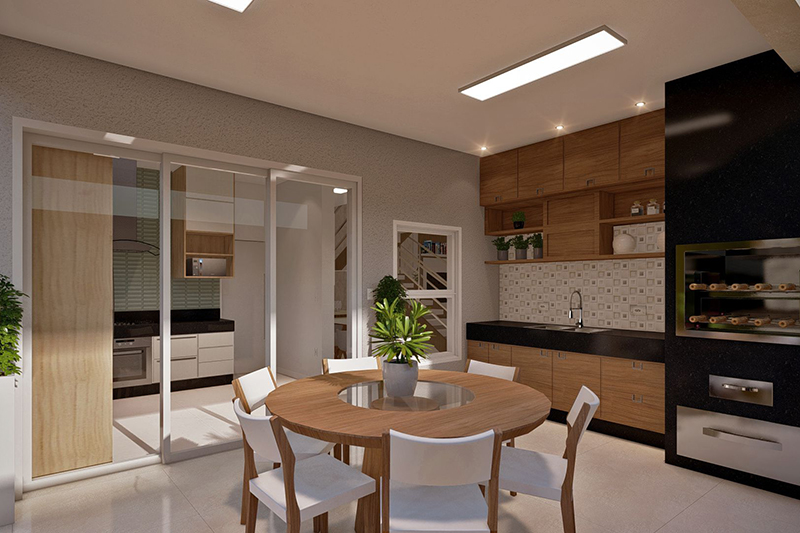 Banheiro neutro com pastilha
