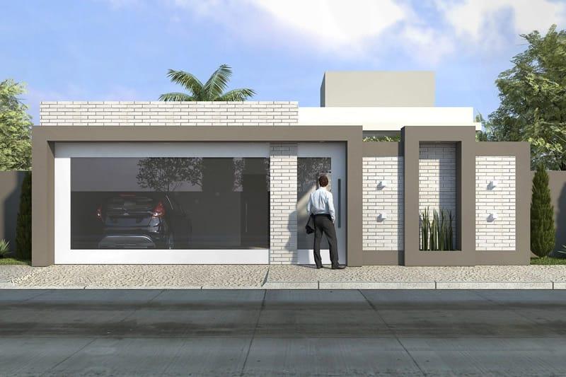 Planta de casa t rrea com 3 su tes projetos de casas for Disenos de casas 10x20