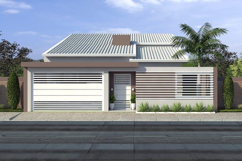 Planta de casa t rrea com piscina projetos de casas for Fachadas de garajes modernos