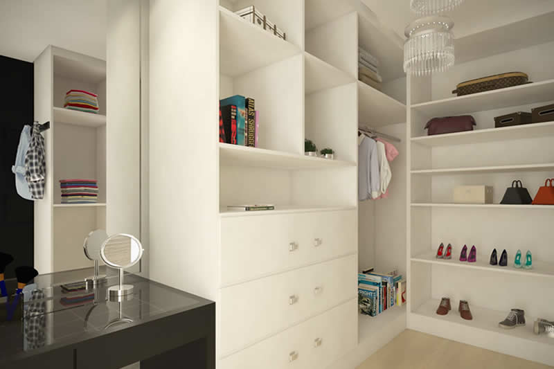 Closet branco para casal