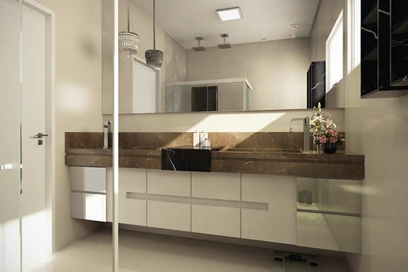 Banheiro de casal grande