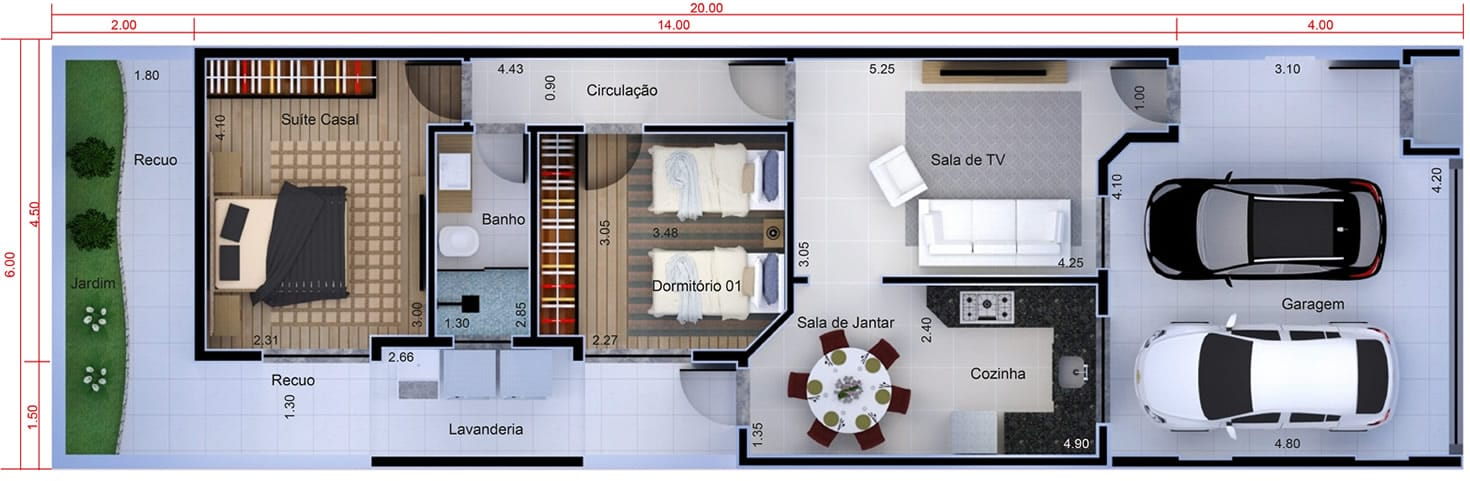 Planta De Casa Com Cozinha Fechada Projetos De Casas