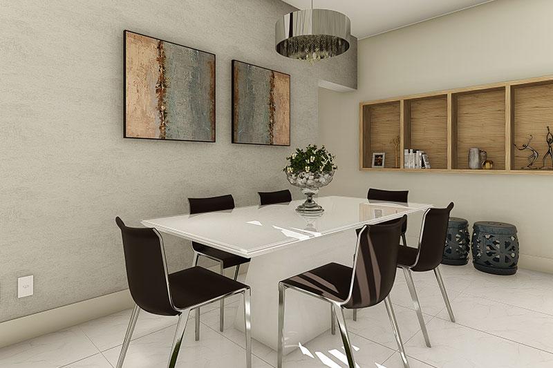 Sala de Jantar com Quadros