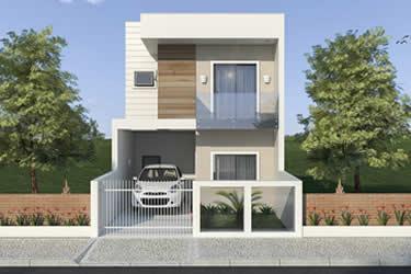 Casa com 6 metros de frente