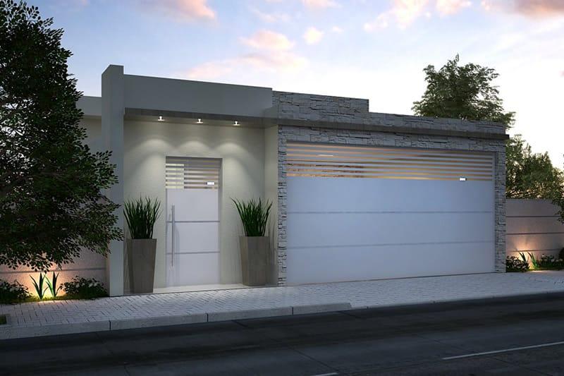 Planta de casa com cozinha americana projetos de casas Ver fachadas de casas