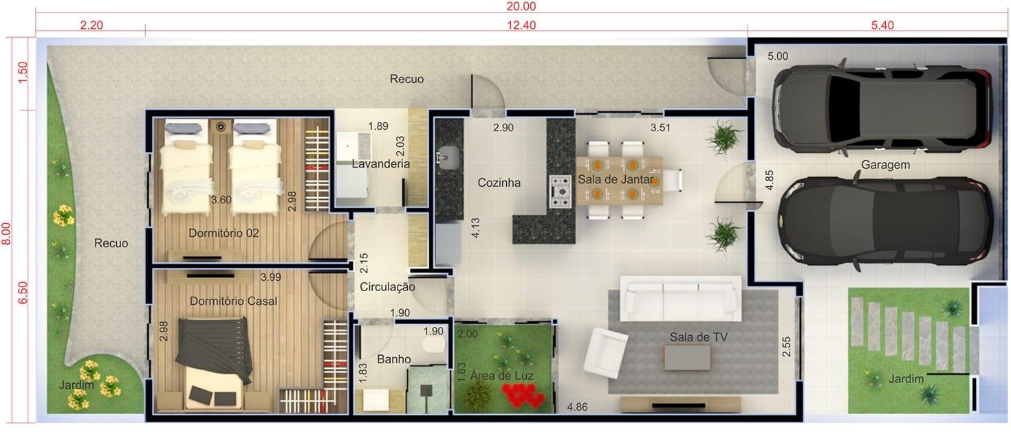 Planta de casa com cozinha americana projetos de casas Casas americanas de una planta